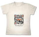 Styled QR code T-shirt