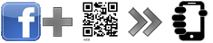 Facebook profile page via a QR code
