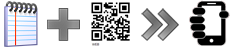 Put a text message in a QR code